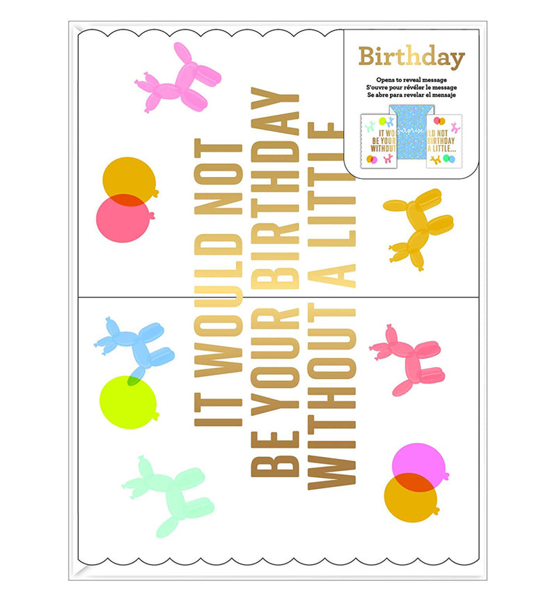 Single Birthday Greeting Card with Envelope