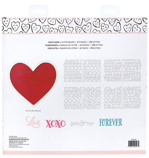 Crate Paper Heart Love Letter Board (184pcs)