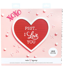 Crate Paper Heart Love Letter Board (183pcs)