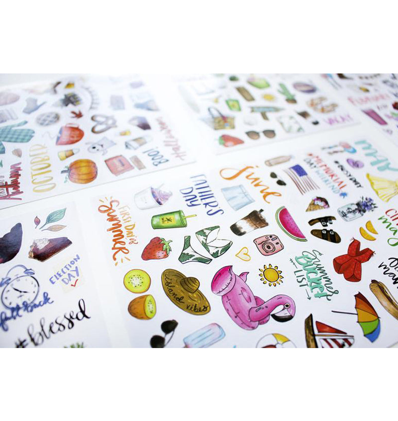 Bloom's Holiday Planner Sticker Sheets 6pcs Pack Close Up 3