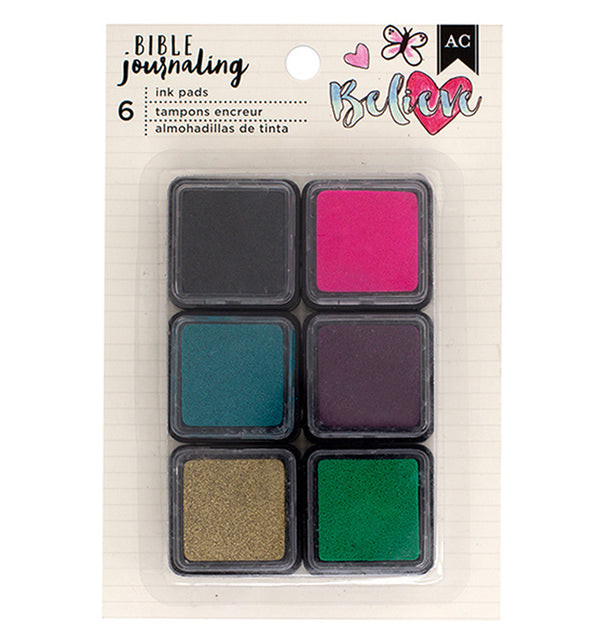 American Crafts Journaling Collection Ink Pads 6pcs
