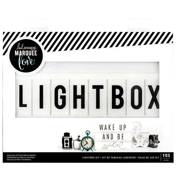 "Heidi Swapp Lightbox Original Kit 13"" x 10"" (103 Letters & Numbers) Packaging at Craftforher"