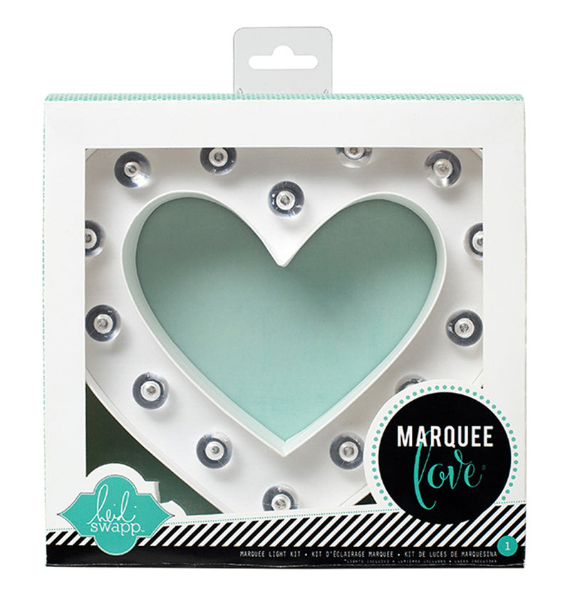 "Heidi Swapp Marquee Love Heart Shape 8"" Light Kit in the Packaging"