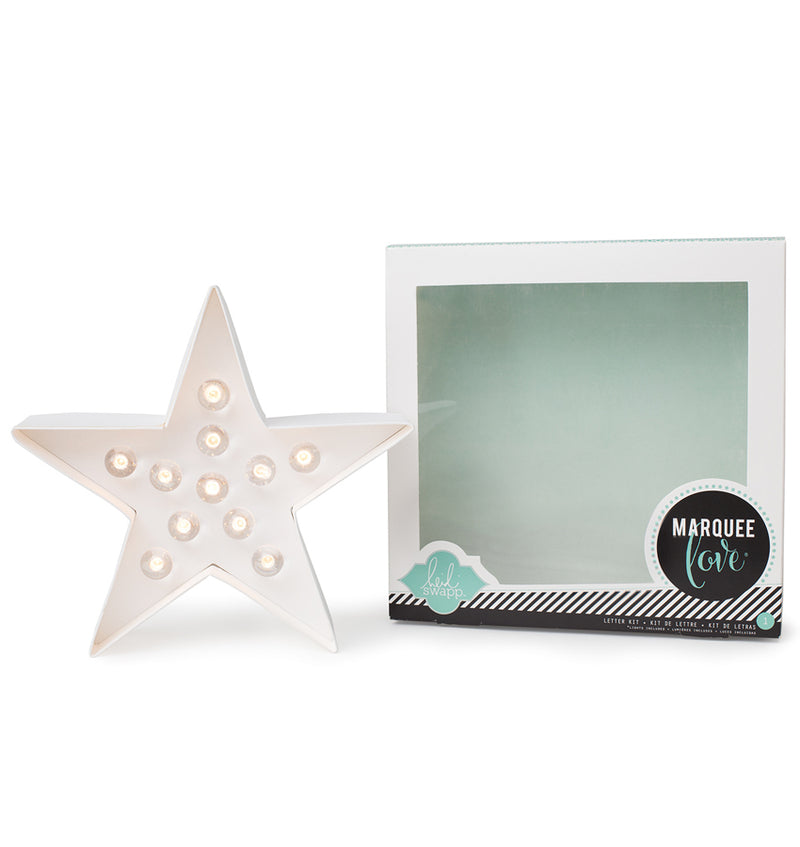 "Heidi Swapp Marquee Star Shape 8"" Light Kit with Packaging"