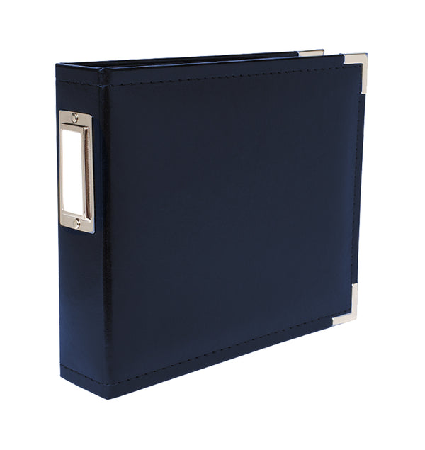 "We R Memory Keepers 6"" x 6"" Navy Classic Leather Three Ring Album with Metal Accent at Craftforher"