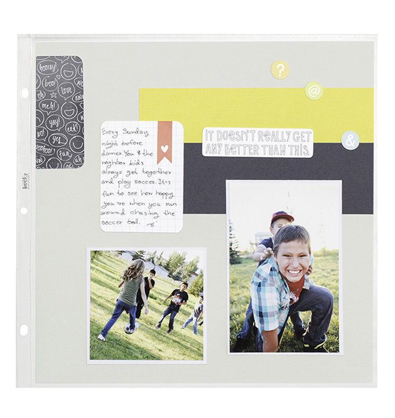 "We R Memory Keepers 12"" x 12"" Page Protectors Combo Pack with Cardstock Paper"