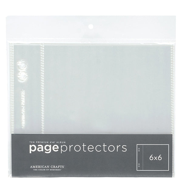 "American Crafts 6"" x 6"" Page Protectors (10pcs Pack)"
