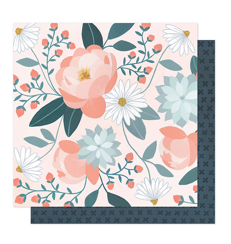 Twilight Collection - Peony 12 x 12 Double Sided Paper