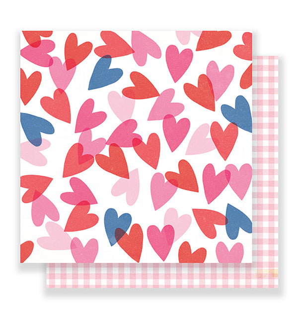 American Crafts Valentine Heart Eyes 12 x 12 Double Sided Paper