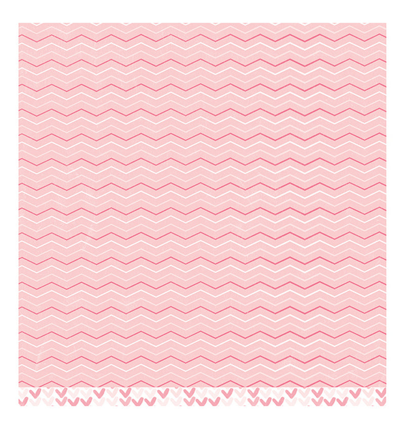 American Crafts Sweet Baby Girl 12 x 12 Double Sided Paper Back