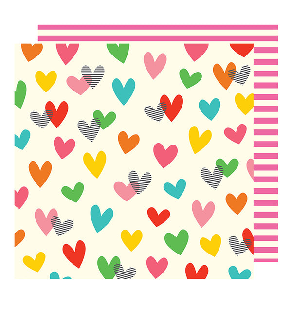 American Crafts Happy Traveller 12 x 12 Double Sided Paper
