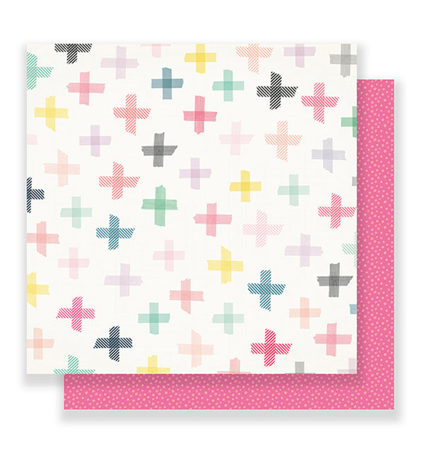 American Crafts Bloom Blossom 12 x 12 Double Sided Paper