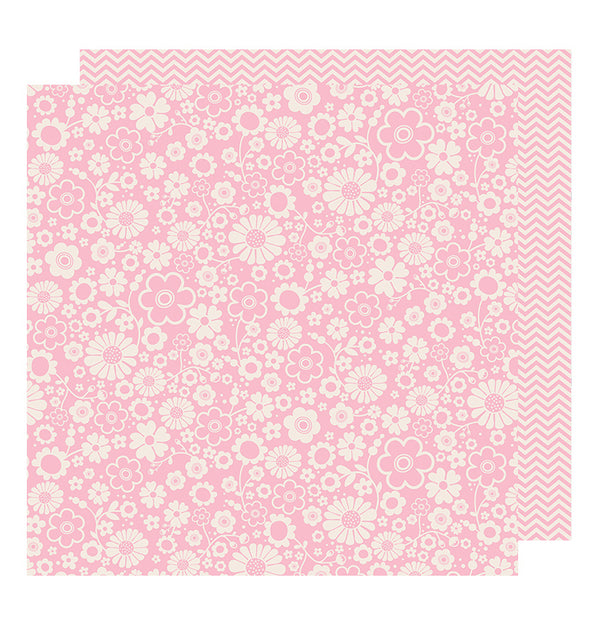 Pebbles Peony Chevron 12 x 12 Double Sided Paper
