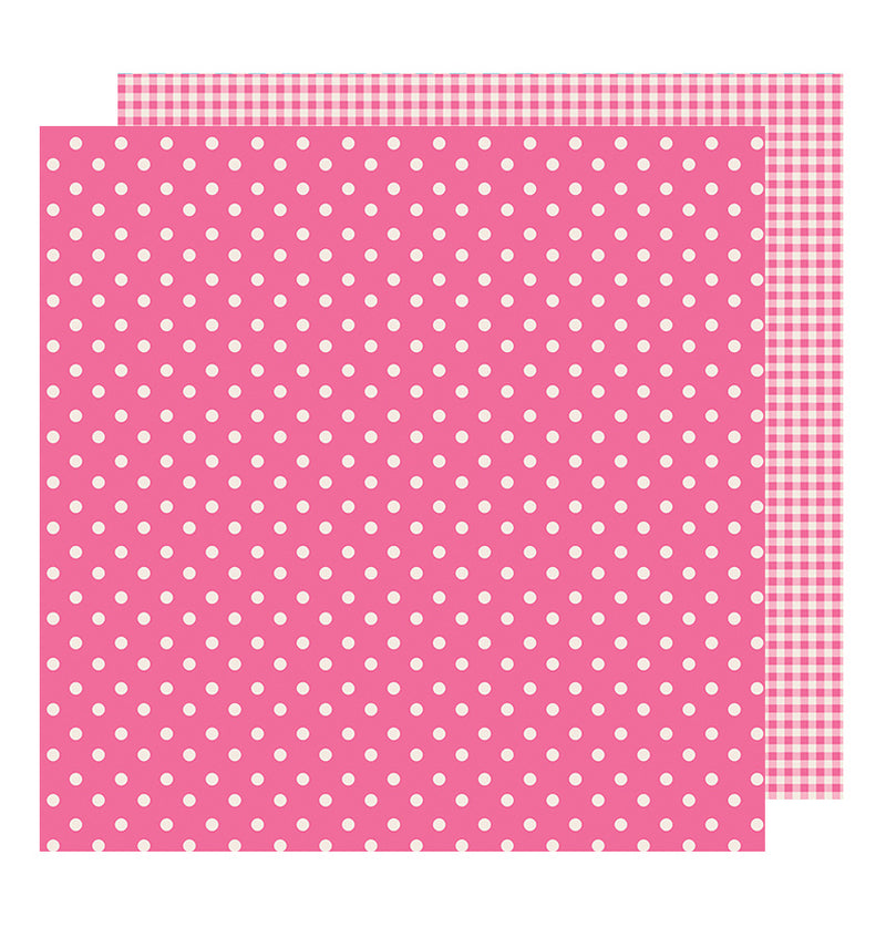 Pebbles Basics Begonia 12 x 12 Double Sided Paper