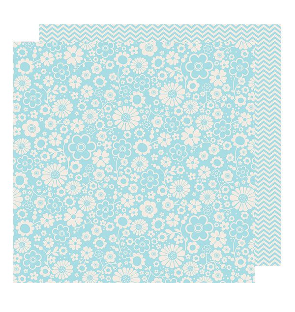 Pebbles Powder Chevron 12 x 12 Double Sided Paper