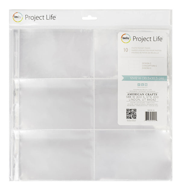 "12 x 12 Photo Sleeve 4""x6"" Protector (10pcs)"