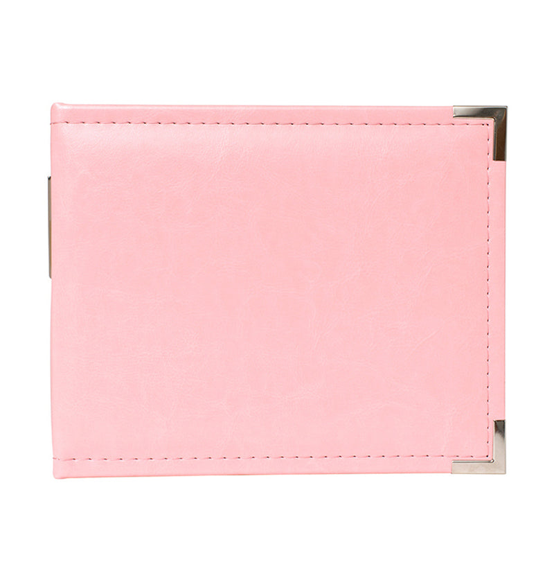 We R Memory Keepers 6 x 6 Pretty Pink Leather Ring Album Back
