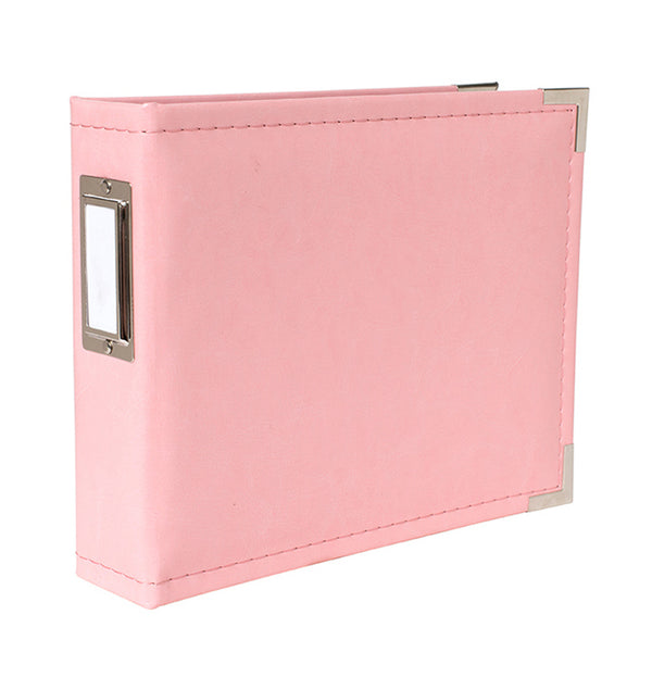 We R Memory Keepers 6 x 6 Pretty Pink Leather Ring Album