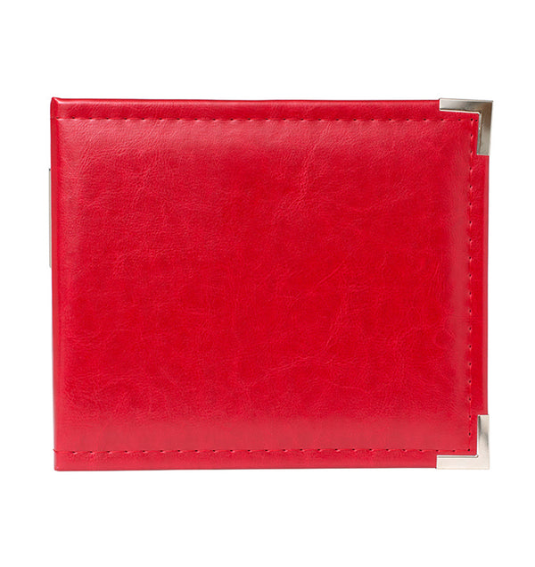 "We R Memory Keepers 6"" x 6"" Red Classic Leather Three Ring Album Back View"