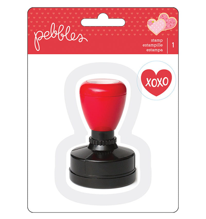 Pebbles Heart Self Inking Stamp