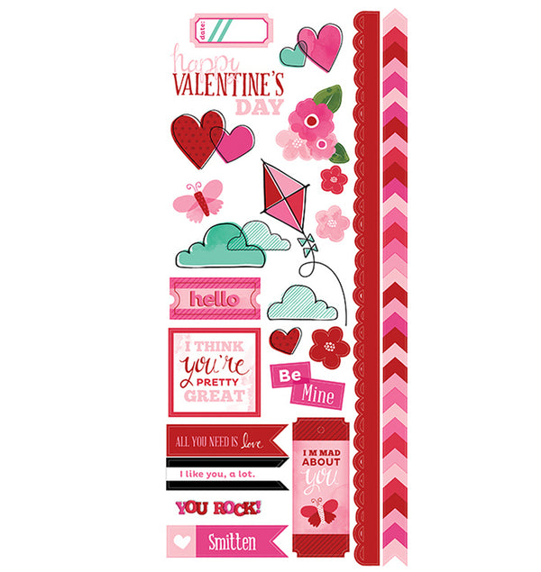 XOXO Valentine Sticker Sheet
