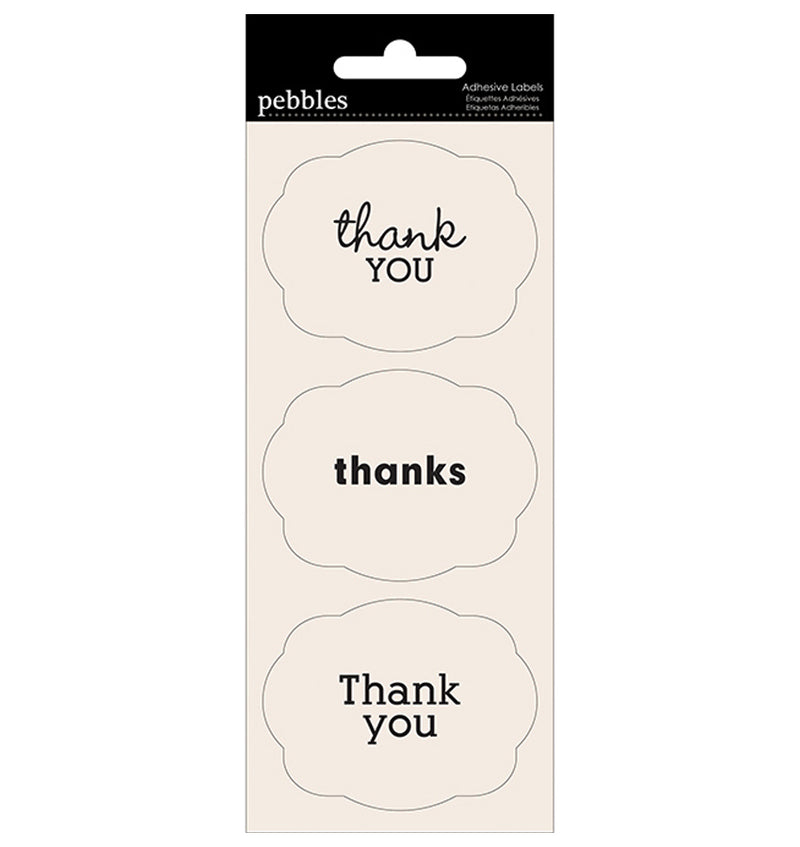 Pebbles Thank You Adhesive Label Stickers