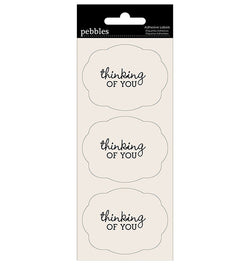 Pebbles Thinking Of You Adhesive Label Stickers