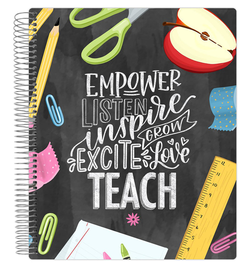 Chalkboard Teacher Planner Undated