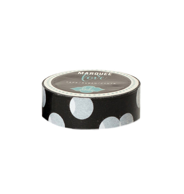 Heidi Swapp Black Polka Dot Washi Tape 0.875inch wide