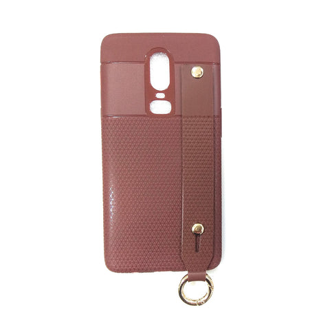 iCare i-Zore Grip Case With Ring Holder- One Plus 6 SN 87 Brown