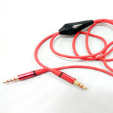 iCare 3.5MM Aux Audio Cable with Mic CN 50 Red