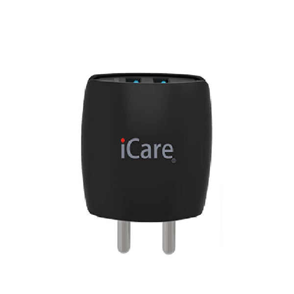 iCare Smart Power Series 2-Port USB Wall Charger ICH 02 Black