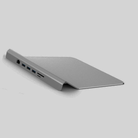 Mouse Pad with USB HUB (grey)