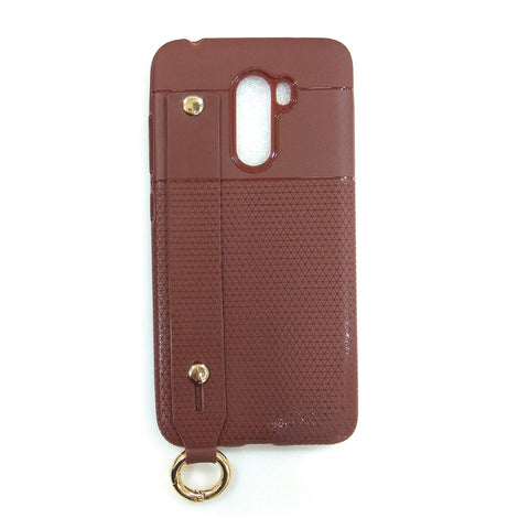 iCare i-Zore Grip Case With Ring Holder- Poco F1 SN 87 Brown