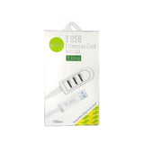 iCare 3 USB Extension Cord With Data (2.4Amp) CN 63 White