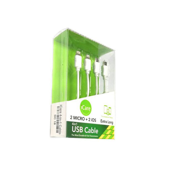 iCare 4-in-1 USB Cable DC 18 White