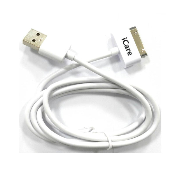 iCare 30pin Usb Cable DC 27 White (2.4A)
