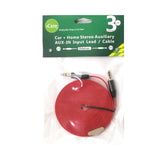 iCare 3.5mm Aux Audio Cable 3M DC 70 Red