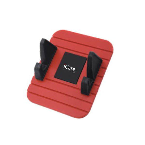 iCare Car DashBoard Phone Holder (Red)