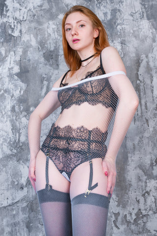 PANTYHOSE of Kaylee 2018-03(1) White Fishnets