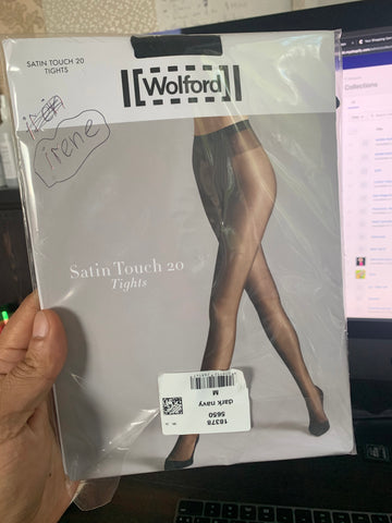 PANTYHOSE of IRENE 2019-06(2) Wolford Satin Touch 20 Blue