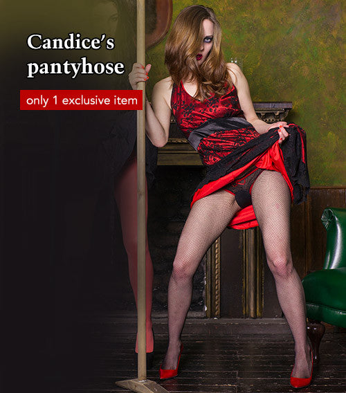 Pantyhose of Candice from 10-2016 Halloween Special