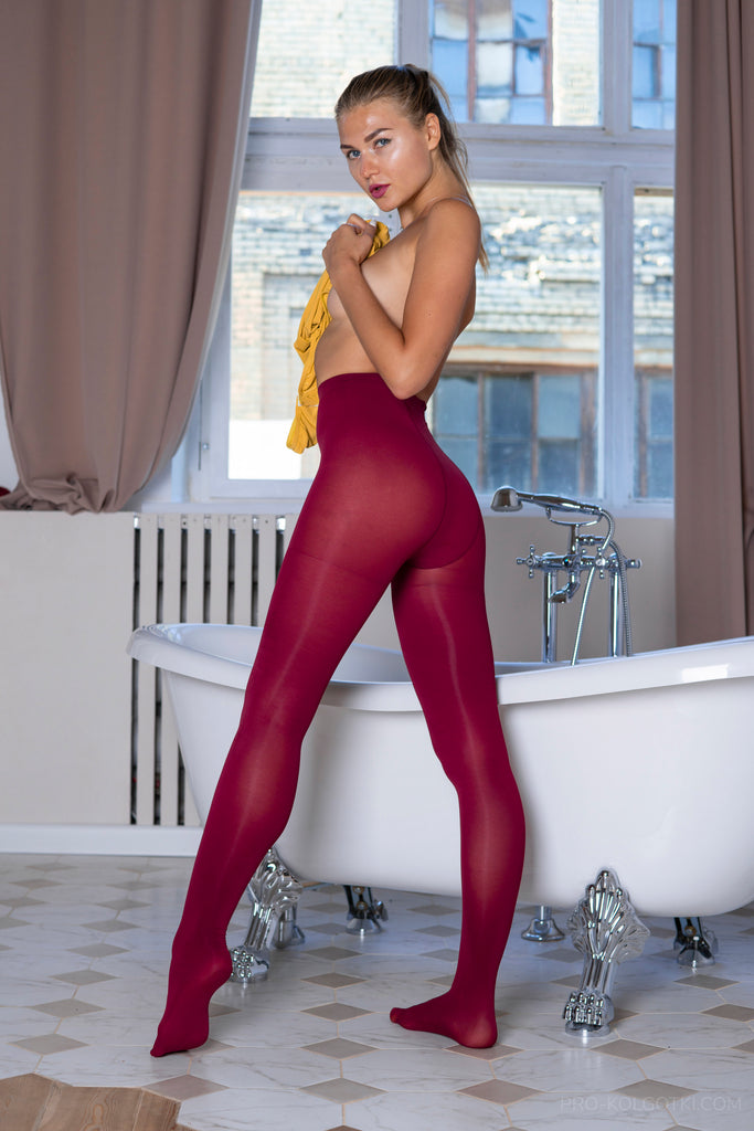 PANTYHOSE of EMMA 2018-12(1) Dark Red