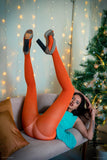 PANTYHOSE of VERONIKA 2019-01(2) UNIQLO Orange