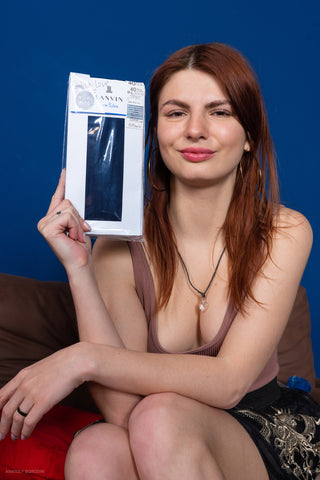 ANASTASIA'S PANTYHOSE - LANVIN 40 BLUE from 2020-04(1)