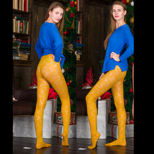 PANTYHOSE of KATE 2017-12(1) Yellow GERBE FLORAL FASION