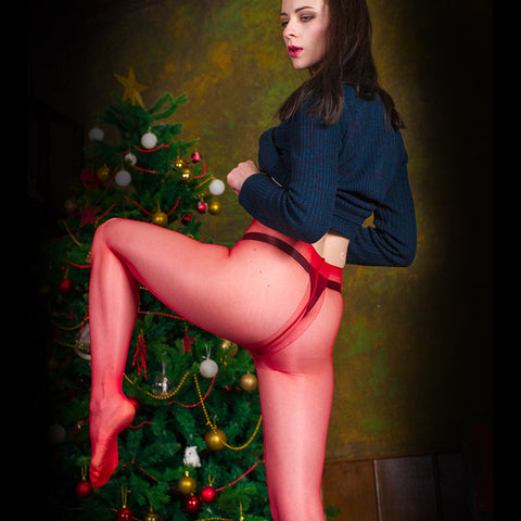 PANTYHOSE of IVY 2017-12(2) CdR red