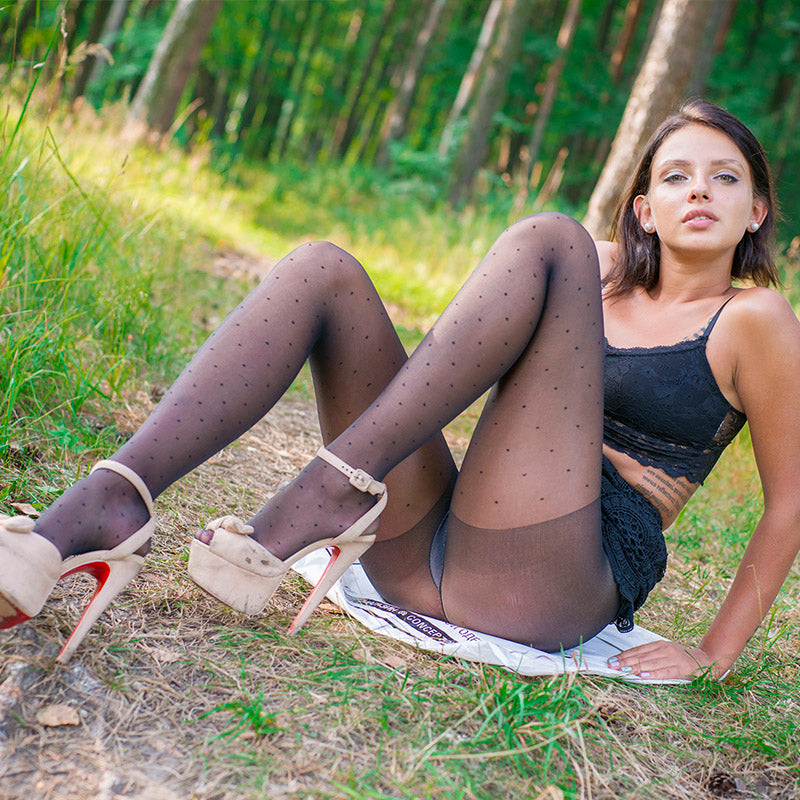 PANTYHOSE of VERONIKA 2017-10(1) polka dot