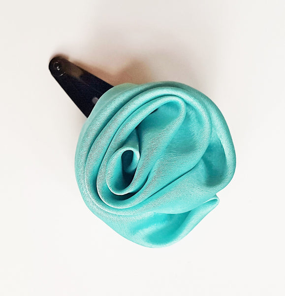 Sea Green Rose Clip