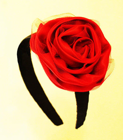 Big rose Hair Band